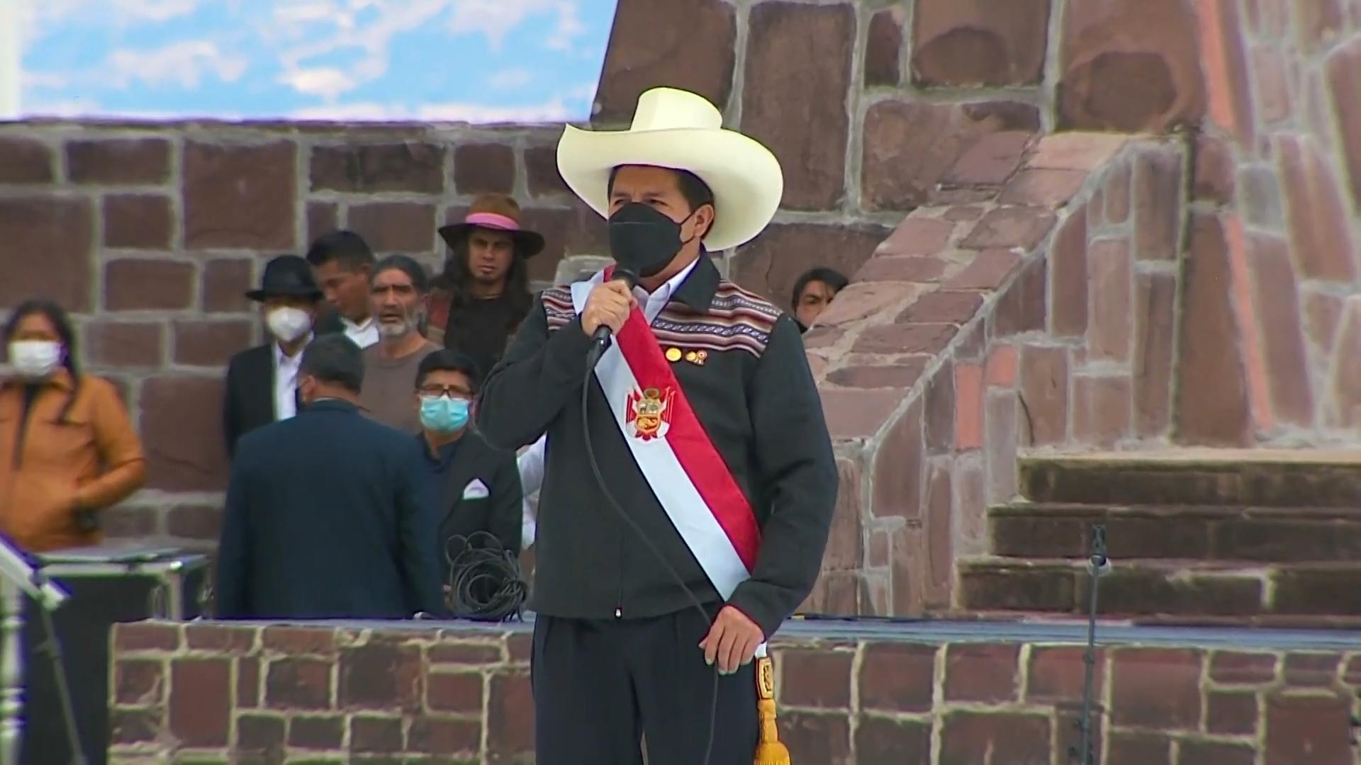 Rural teacher installed as President in Peru