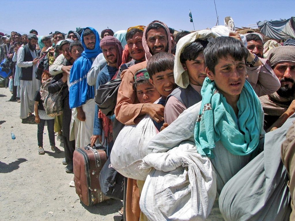 Convoy of Afghan Christian Escaping to Pakistan